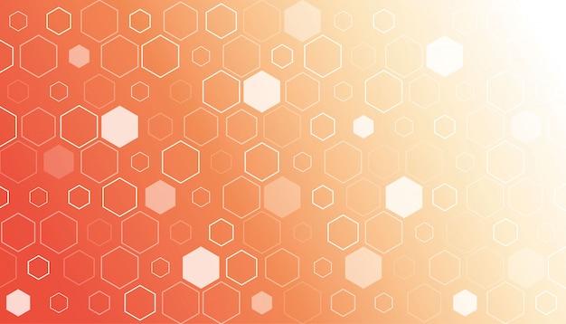 Fondo degradado abstracto hexagonal