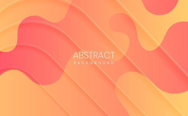Fondo degradado abstracto naranja y amarillo moderno