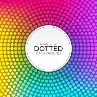 Fondo degradado de arco iris con textura punteada circular