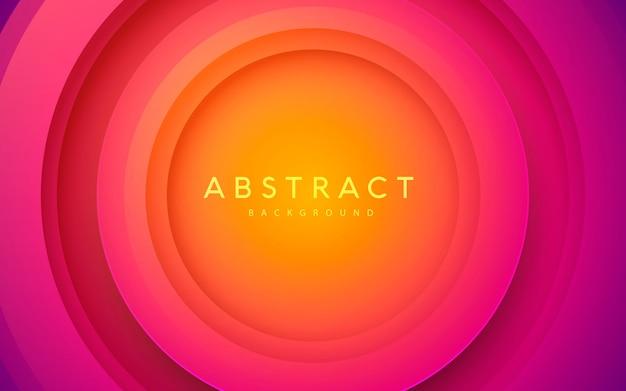 Fondo degradado de capa de círculo abstracto