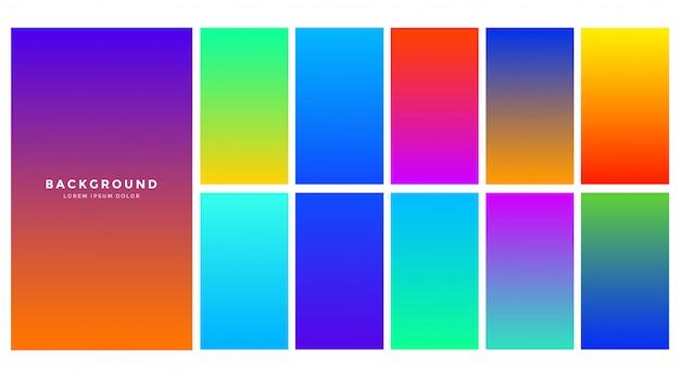 Fondo degradado colorido abstracto vibrante