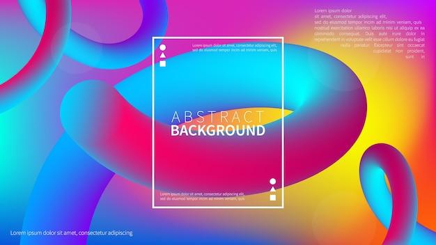 Fondo degradado fluido abstracto con estilo de movimiento dinámico geométrico moderno. fondo líquido de moda.