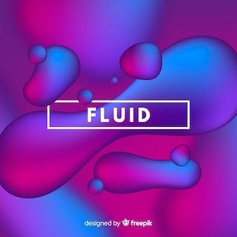 Fondo degradado con formas fluidas en 3d