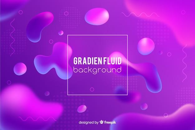 Fondo degradado con formas fluidas