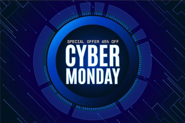 Fondo degradado futurista cyber monday