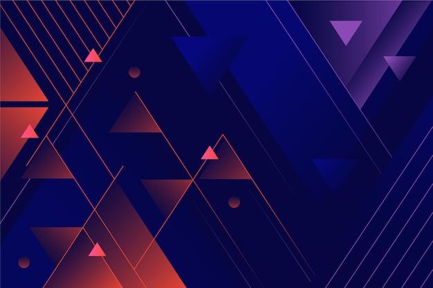 Fondo degradado geométrico abstracto