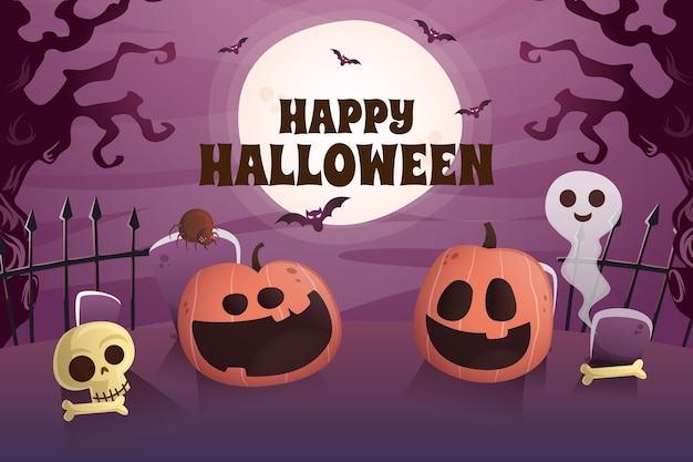 Fondo degradado de halloween