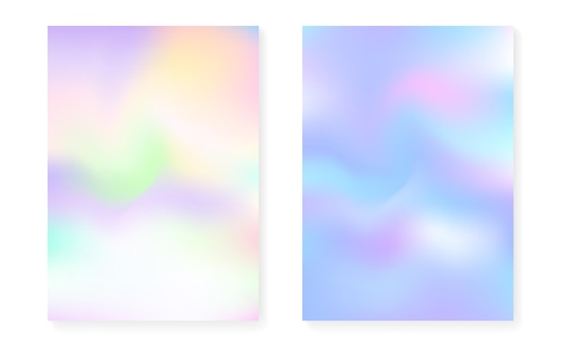 Fondo degradado de holograma con cubierta holográfica