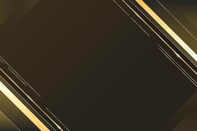 Fondo degradado de líneas doradas