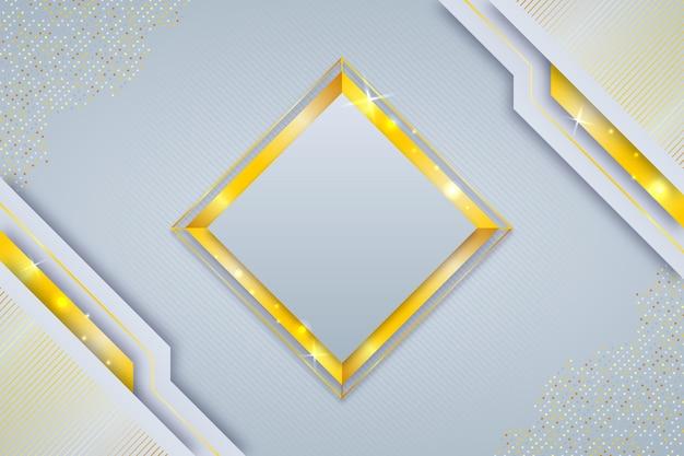 Fondo degradado de lujo con detalles dorados.