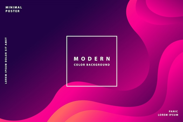 Fondo degradado moderno con color degradado de estilo colorido