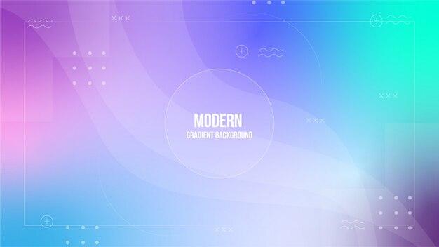 Fondo degradado moderno colorido