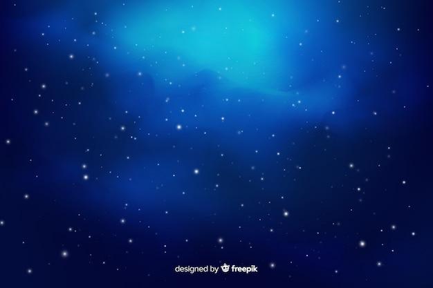 Fondo degradado de la noche estrellada