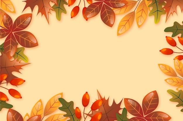 Fondo degradado de otoño