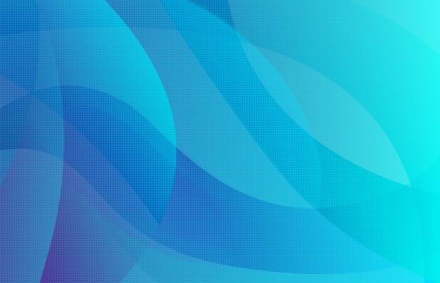 Fondo degradado punteado de semitono azul abstracto