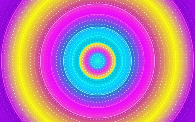 Fondo degradado de puntos de círculo abstracto