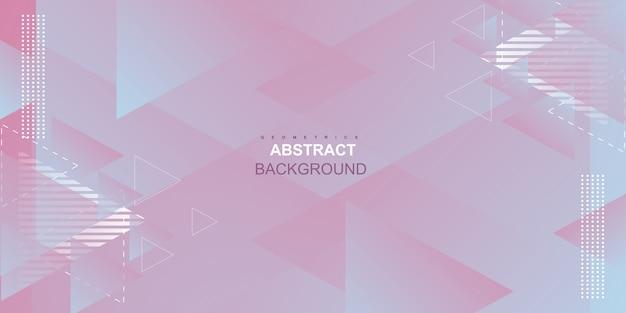 Fondo degradado rosa geométrico abstracto