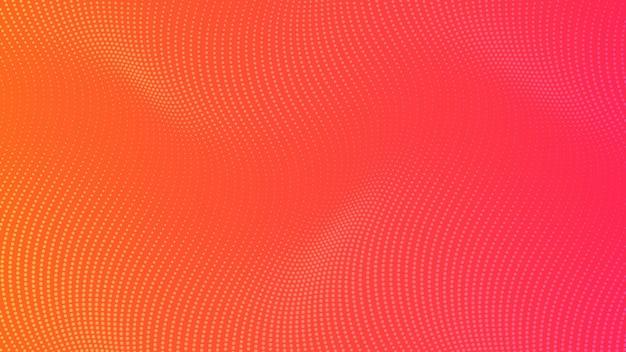 Fondo degradado de semitono con puntos. patrón de arte pop punteado naranja abstracto en estilo cómic. ilustración vectorial