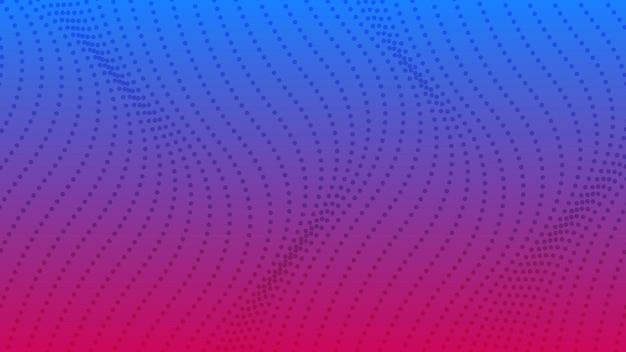 Fondo degradado de semitono con puntos. patrón de arte pop punteado púrpura abstracto en estilo cómic. ilustración vectorial