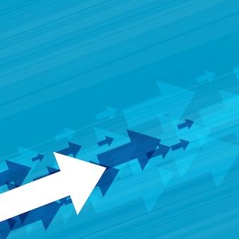 Fondo del concepto de flechas ascendentes de negocios