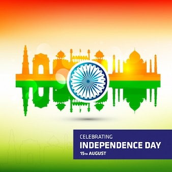 Fondo del día de la independencia de india en colores