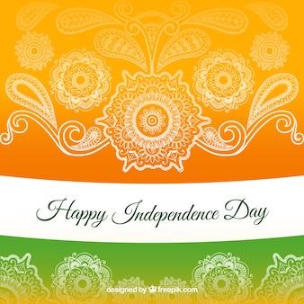 Fondo del día de la independencia de la india en estilo de mandala