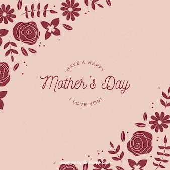 Fondo del día de la madre con flores