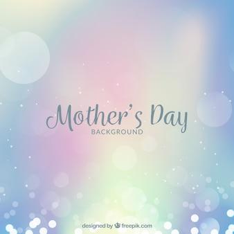 Fondo del día de la madre en estilo desenfocado