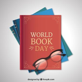 Fondo del día internacional del libro en estilo realista