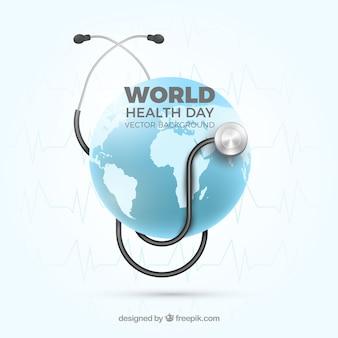 Fondo del día mundial de la salud en estilo realista