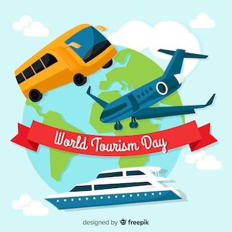 Fondo del día mundial del turismo