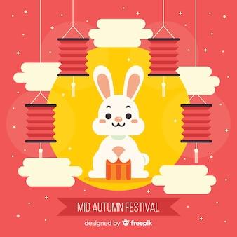Fondo del festival de medio otoño
