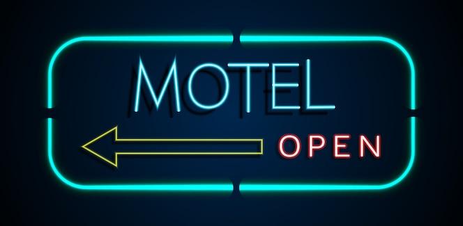 Fondo del hotel de los signos de neón