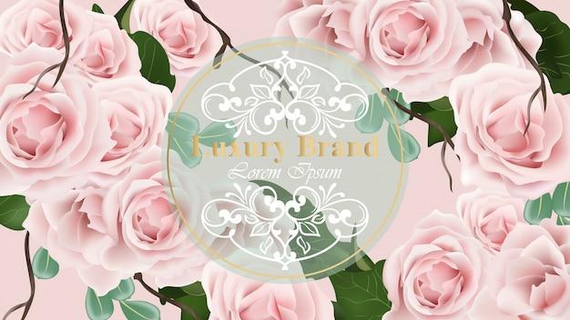 Fondo delicado de la tarjeta de las rosas ilustración del vector. diseños de plantillas florales