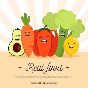 Fondo con deliciosa comida