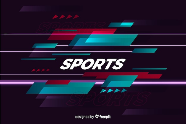 Fondo de deporte abstracto estilo plano