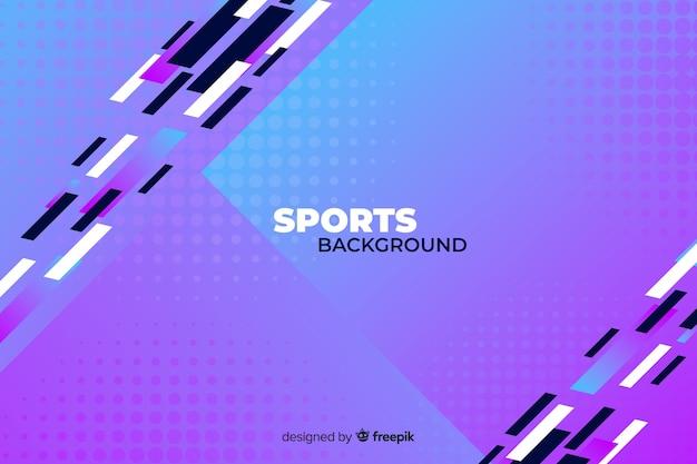 Fondo de deporte abstracto en formas de colores fríos