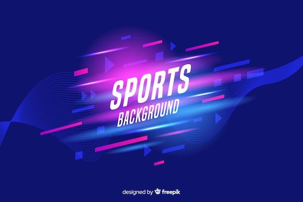 Fondo de deporte abstracto formas planas