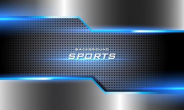 Fondo de deporte futurista brillante 3d