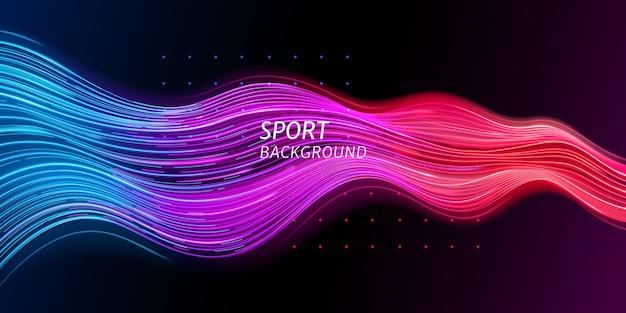 Fondo de deporte de velocidad o onda de sonido de moda