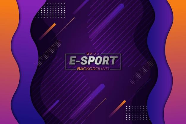 Fondo de deportes electrónicos estilo fluido naranja púrpura