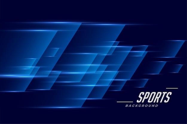 Fondo deportivo azul en estilo de efecto de velocidad