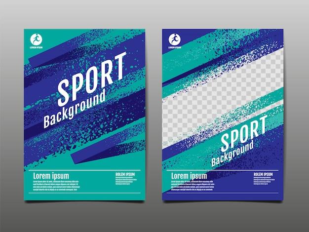 Fondo deportivo, diseño de plantilla