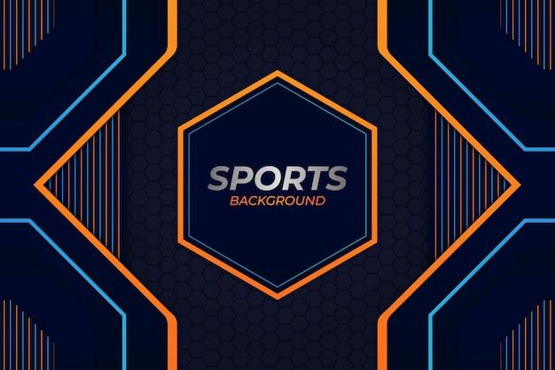 Fondo deportivo estilo azul y naranja