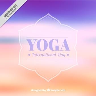 Fondo desenfocado abstracto de yoga