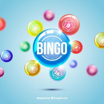 Fondo desenfocado de bolas de bingo