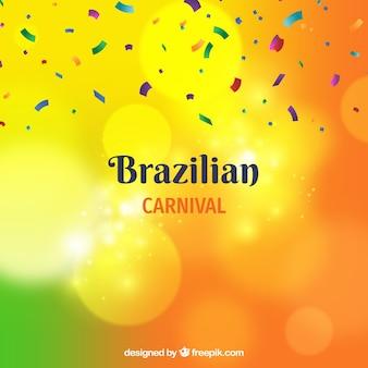 Fondo desenfocado de carnaval brasileño
