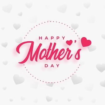 Fondo de deseos de diseño de cartel de día de la madre