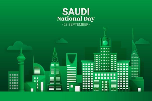 Fondo detallado del día nacional saudí