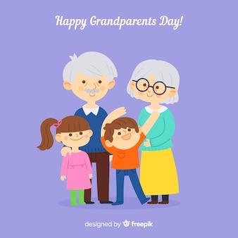 Fondo del día de los abuelos en estilo flat